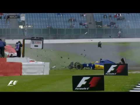 Susto en Silverstone por el accidente de Ericsson