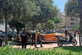 Denunciado por aparcar un Lamborghini a la sombra de un árbol en un parque de Vila