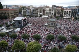 Masiva concentración en Pamplona contra las agresiones sexuales
