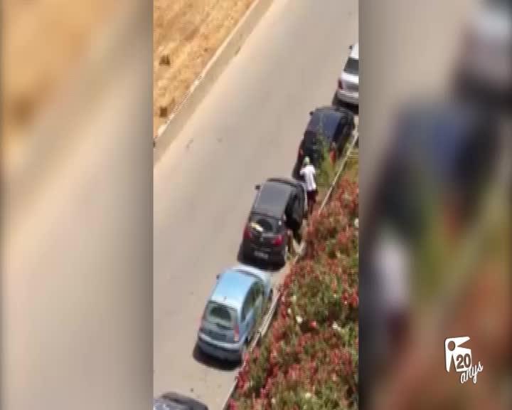 Graban a dos ladrones en pleno hurto en el Camí d'es Regueró