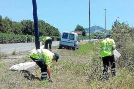 El Consell d'Eivissa inicia la limpieza de los márgenes de las carreteras