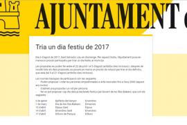 Los vecinos de Artà podrán elegir el festivo local de 2017