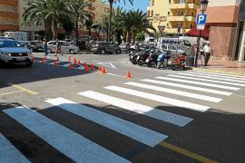 Santa Eulària pone en marcha nuevos pasos de peatones y mejoras en la señalización
