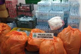 La Policía Local de Formentera lucha contra la venta ambulante