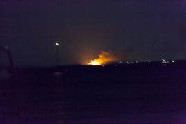 Una hectárea de sabinar quemada en el incendio del islote de s'Espalmador