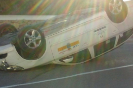 Herida una taxista en la carretera de Cala Gració tras chocar con dos coches