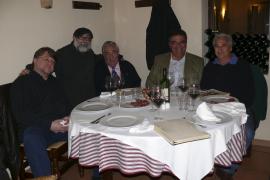 Diego Villamediana invitó a sus amigos a una cena con motivo de las fiestas de Navidad