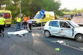 Un motorista de 40 años fallece al chocar contra un coche en la carretera de Santa Eulària