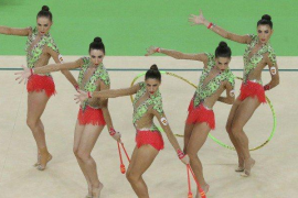 España consigue la medalla de plata en gimnasia rítmica