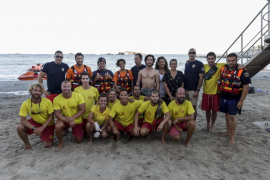 Simulacro de rescate en Ses Figueretes
