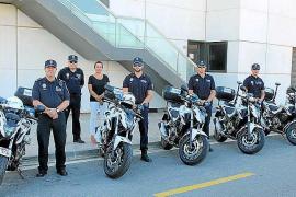 Seis nuevas motos para el parque móvil de la Policía Local de Vila
