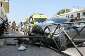 Aparatoso accidente en cadena en Can Negre