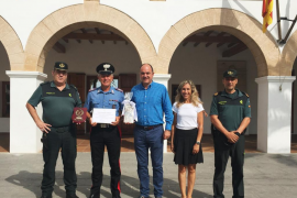 Santa Eulària agradece el trabajo del brigadiere italiano