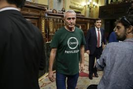 Cañamero bromea con votar a Rajoy «con tal de no escucharle»