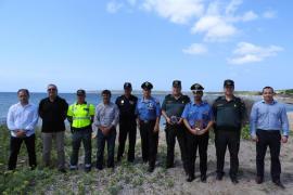 Formentera despide a los carabinieri italianos