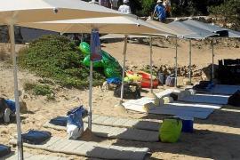 Acampada ilegal en Cabrera