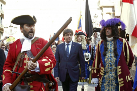 Puigdemont dice durante la Diada de Catalunya que espera celebrar «elecciones constituyentes» antes de un año