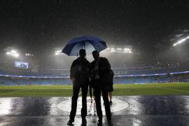 Aplazado por la lluvia el Manchester City-Borussia Moenchengladbach