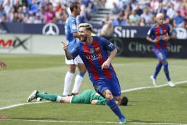 El Barcelona, con un gran Messi, golea al Leganés a domicilio