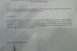 Més pide trato de favor judicial en las resoluciones sobre las autovías de Ibiza