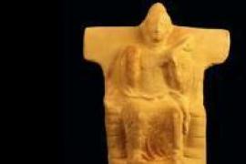 Cita con una terracota púnica del siglo V a.C. que representa al dios Baal Hammon