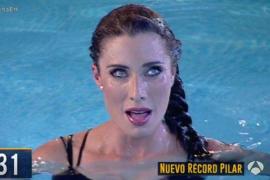 Pilar Rubio casi se asfixia durante una prueba de apnea en 'El Hormiguero'