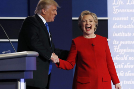 Clinton vence a Trump en un tenso debate