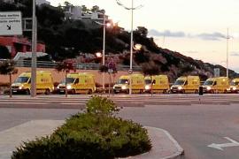 Las nuevas ambulancias del transporte urgente desembarcan en la isla de Ibiza