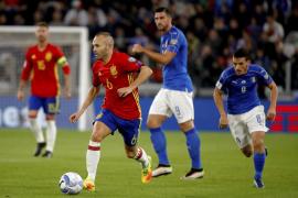 Exhibición sin premio de España ante Italia
