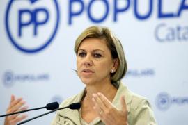 Cospedal dice que los españoles no quieren un gobierno de «radicales y extremistas»