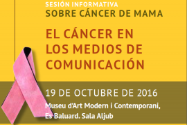 Sesión informativa sobre cáncer de mama y medios de comunicación en Es Baluard
