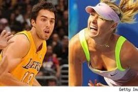 Sharapova se compromete con Vujacic,  jugador de los Lakers