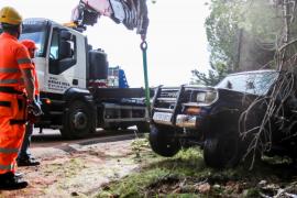Tres personas rescatadas y centenares de destrozos en Santa Eulària por las últimas lluvias