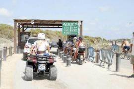 El Parque Natural de Formentera ha registrado el acceso de 27.000 vehículos más que hace un año