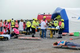 El aeropuerto de Ibiza realiza un simulacro de accidente aéreo