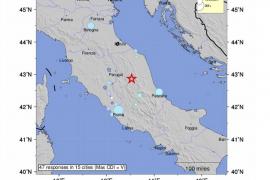 El centro de Italia vuelve a temblar con un terremoto de magnitud 5,5