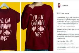 Chenoa lanza un camiseta con el lema:«Yo en chándal no salgo más»