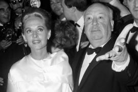 Tippi Hedren y Alfred Hitchcock