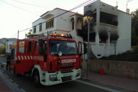 Incendio en una vivienda en Santa Eulària
