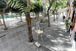 La plaza del Parc cierra por obras