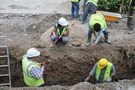 Encuentran restos arqueológicos de origen romano en las obras de la Plaza del Parc de Vila