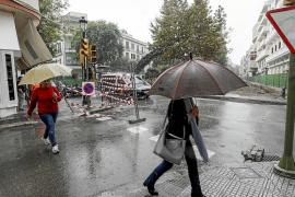Caída drástica de temperaturas y lluvias ocasionales en las Pitiusas