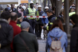 Fallece un trabajador tras el derrumbe de los forjados de un edificio en obras en Madrid
