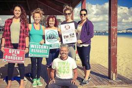 SOS Yoga se vuelca cada domingo con los refugiados