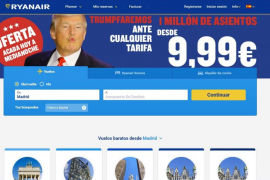 Ryanair ofrece billetes a 9,99 euros con motivo de la victoria de Trump