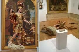 Un turista rompe una escultura del siglo XVIII en un museo de Lisboa