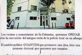 Vecinos empapelarán el barrio exigiendo a Vila una consulta sobre el futuro albergue