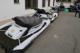 La banda detenida vendía motos acuáticas a los narcos de Marruecos