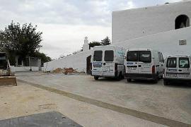 Comienzan las obras para empedrar dos calles en la zona del Puig de Missa de Santa Eulària