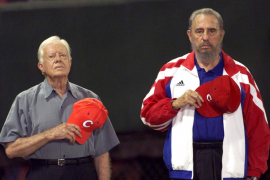 Jimmy Carter y Fidel Castro
